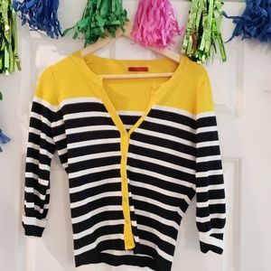 Black, White, and Yellow Cardigan - only worn teic